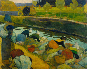 Art Prints of Washerwomen by Paul Gauguin