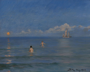Art Prints of Boys Bathing by Peder Severin Kroyer