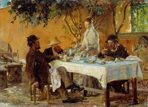 Art Prints of Breakfast in Sora by Peder Severin Kroyer