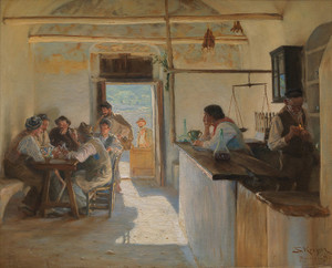 Art Prints of Wine Bar by Peder Severin Kroyer