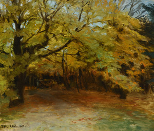 Art Prints of Autumn Forest at Skagen, 1908 by Peder Severin Kroyer