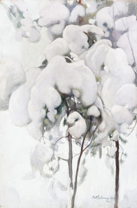 Art Prints of Snow Covered Pine Saplings by Pekka Halonen
