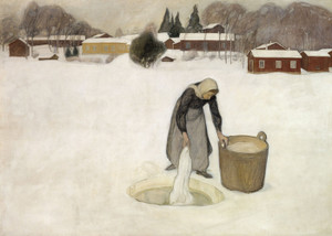 Art Prints of Washing on the Ice by Pekka Halonen