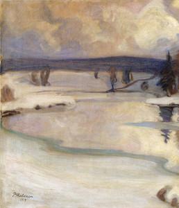 Art Prints of Winter Landscape by Pekka Halonen