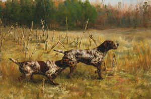 Art Prints of Two Setters by Percival Leonard Rosseau