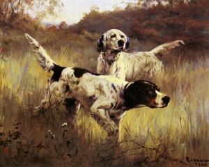 Art Prints of English Setters in the Field by Percival Leonard Rosseau