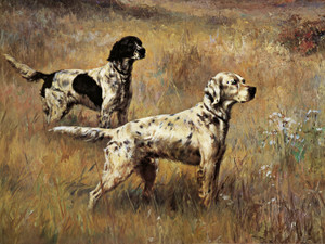 Art Prints of Setters in the Field by Percival Leonard Rosseau
