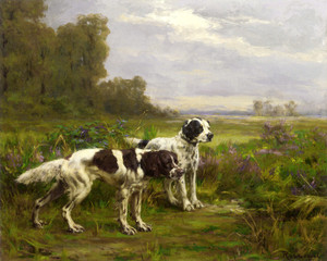 Art Prints of Two English Setters by Percival Leonard Rosseau