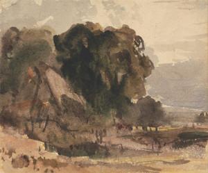 Art Prints of Cottage Amongst Trees by Peter De Wint