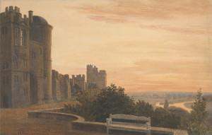 Art Prints of View of the Terrace at Windsor by Peter De Wint