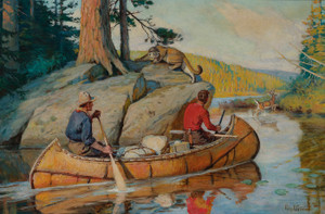 Art Prints of In the Canoe by Philip Goodwin