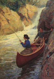 Art Prints of Fishing in the Rapids by Philip Goodwin