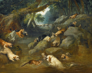Art Prints of An Otter Hunt by Philip Reinagle