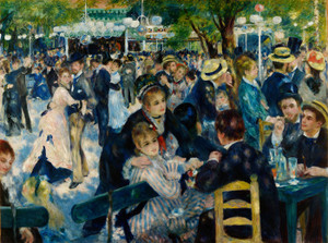 Art Prints of Dance at le Moulin de la Galette by Pierre-Auguste Renoir