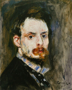Art Prints of Self Portrait, 1875 by Pierre-Auguste Renoir