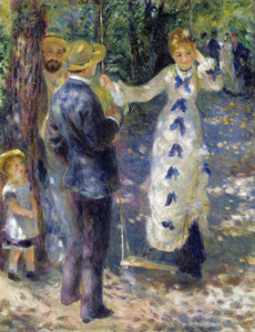 Art Prints of The Swing II, 1876 by Pierre-Auguste Renoir