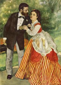 Art Prints of Portrait of the Couple Sisley, 1868 by Pierre-Auguste Renoir