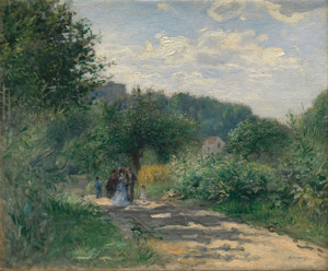 Art Prints of A Road in Louveciennes by Pierre-Auguste Renoir