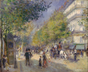 Art Prints of The Grands Boulevards by Pierre-Auguste Renoir