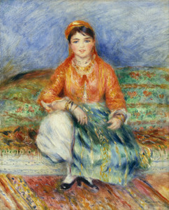 Art Prints of Algerian Girl by Pierre-Auguste Renoir