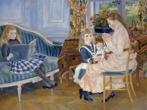 Art Prints of Children's Afternoon at Wargemont by Pierre-Auguste Renoir