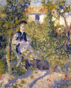 Art Prints of Nini in the Garden by Pierre-Auguste Renoir