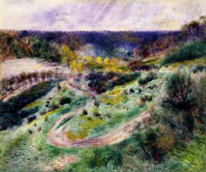 Art Prints of Road at Wargemont by Pierre-Auguste Renoir
