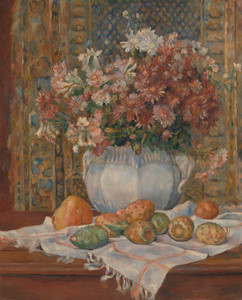 Art Prints of Still Life with Flowers and Prickly Pears by Pierre-Auguste Renoir