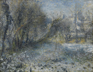 Art Prints of Snow Covered Landscape by Pierre-Auguste Renoir