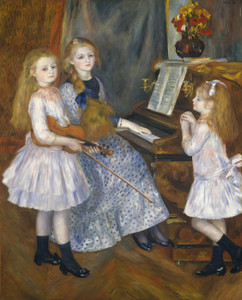 Art Prints of The Daughters of Catulle Mendes by Pierre-Auguste Renoir