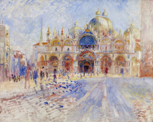Art Prints of The Piazza San Marco Venice by Pierre-Auguste Renoir