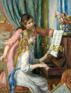 Art Prints of Two Young Girls at the Piano I by Pierre-Auguste Renoir