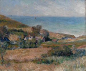 Art Prints of View of the Seacoast near Wargemont, Normandy by Pierre-Auguste Renoir