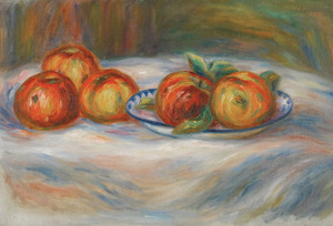 Art Prints of Still Life with Apples by Pierre-Auguste Renoir