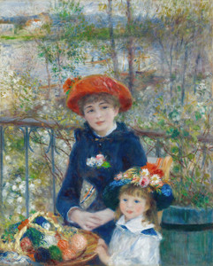Art Prints of Two Sisters on the Terrace by Pierre-Auguste Renoir