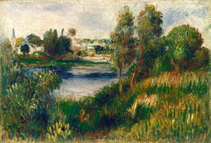 Art Prints of Landscape at Vetheui by Pierre-Auguste Renoir
