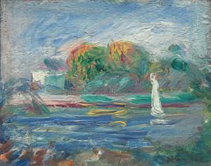 Art Prints of The Blue River by Pierre-Auguste Renoir