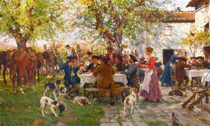 Art Prints of The Huntsman's Lunch by Raffaello Sorbi