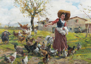 Art Prints of The Young Farmer's Wife by Raffaello Sorbi