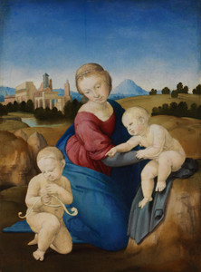 Art Prints of Madonna and Child with the Infant Saint John by Raphael Santi