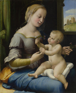 Art Prints of The Madonna of the Pinks by Raphael Santi