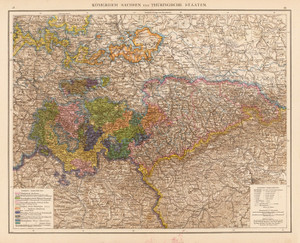 Art Prints of Saxony Thuringian States, 1881 (1494029) by Richard Andree