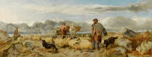 Art Prints of Gathering the Flock by Richard Ansdell