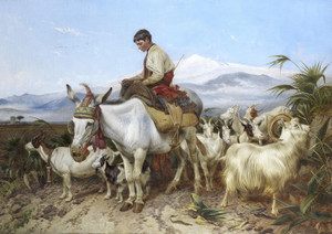 Art Prints of The Vega of Granada Returning from Pastures by Richard Ansdell
