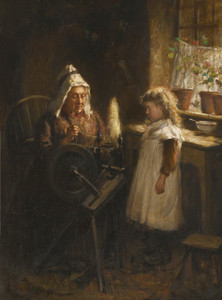 Art Prints of Visiting Granny by Robert Gemmell Hutchison