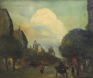 Art Prints of Boulevard Montparnasse or The Cloud by Robert Henri