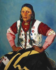 Art Prints of Portrait of Po Tse War Eagle by Robert Henri