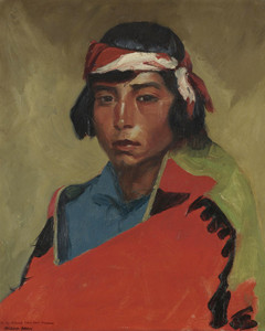 Art Prints of Young Buck of the Tesuque Pueblo by Robert Henri