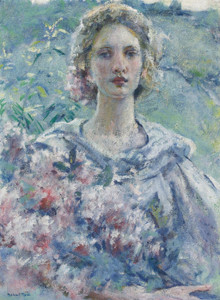 Art Prints of Girl with Flowers by Robert Reid