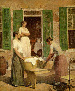 Art Prints of The Washerwomen by Robert Spencer